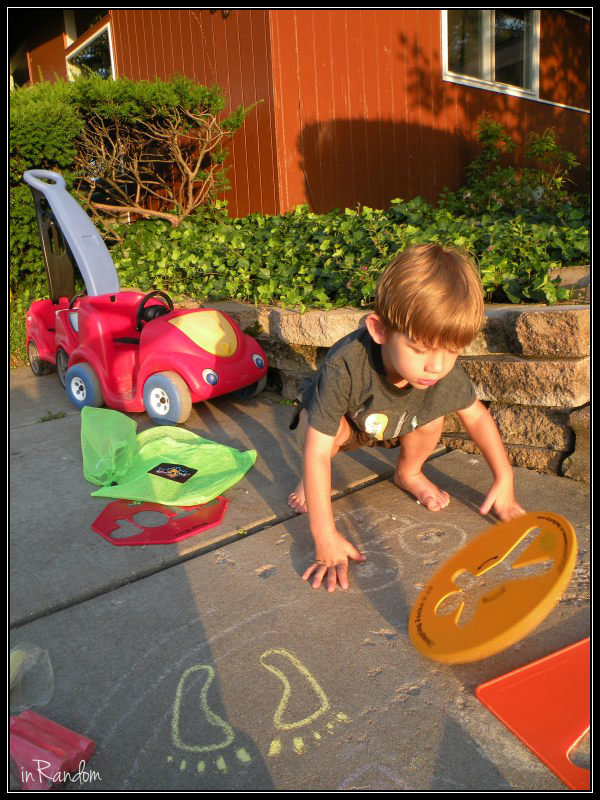 Tot with Chalk City Toys