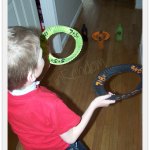 Homeschool Crafts – Addition Ring Toss Game