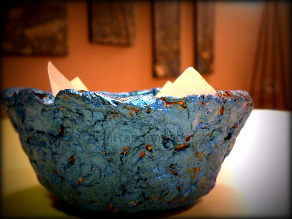 How to make candy bowls out of paper craft for Finishing paper mache