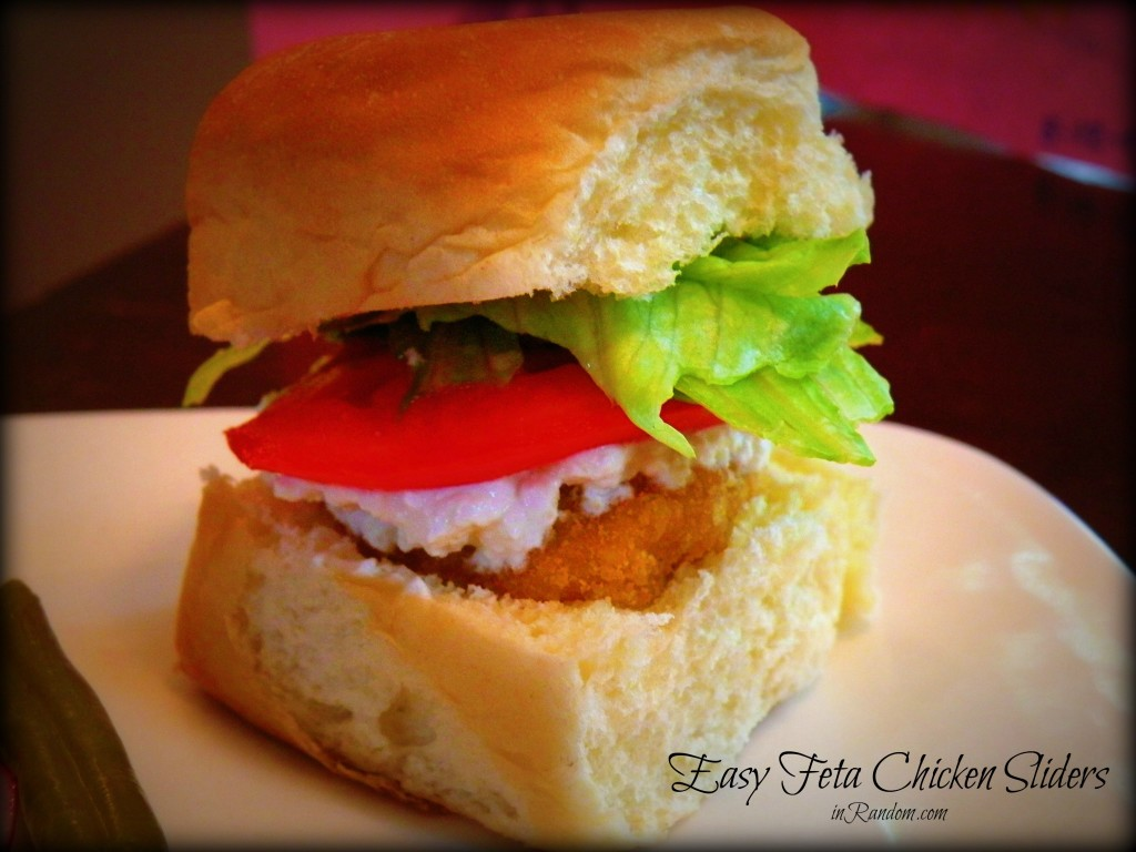 Feta Chicken Nugget Sliders