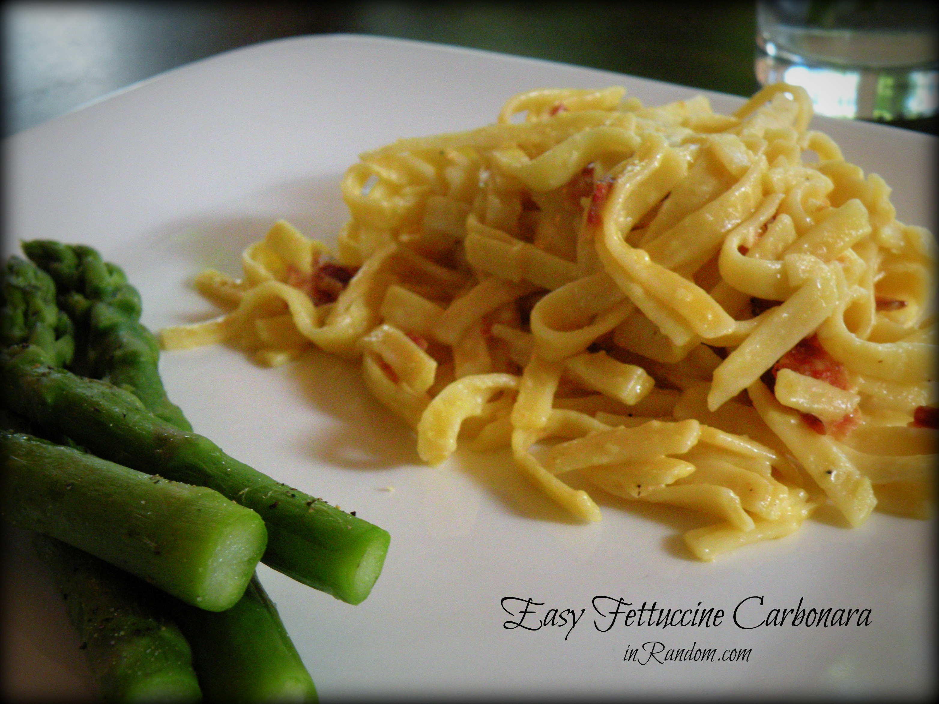 Easy recipe for fettuccine carbonara