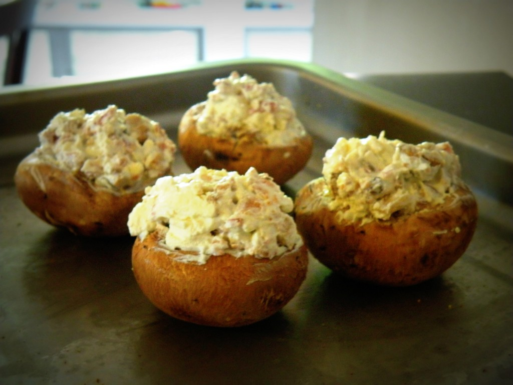 Cheese & Bacon Stuffed Mushrooms