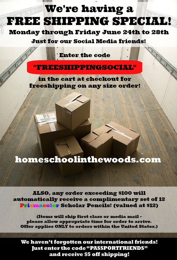 Free Shipping Home School in the Woods