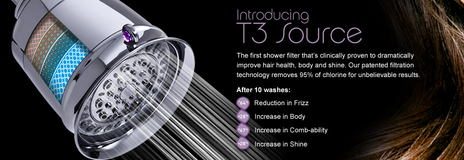 the beauty sophistication of the t3 source showerhead. Black Bedroom Furniture Sets. Home Design Ideas