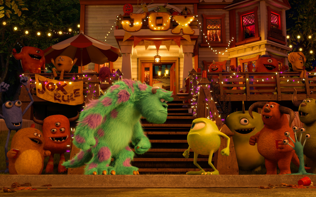 Monsters University Mike & Sully face off