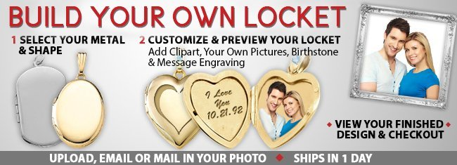 Design Your Own Locket With Pictures on Gold