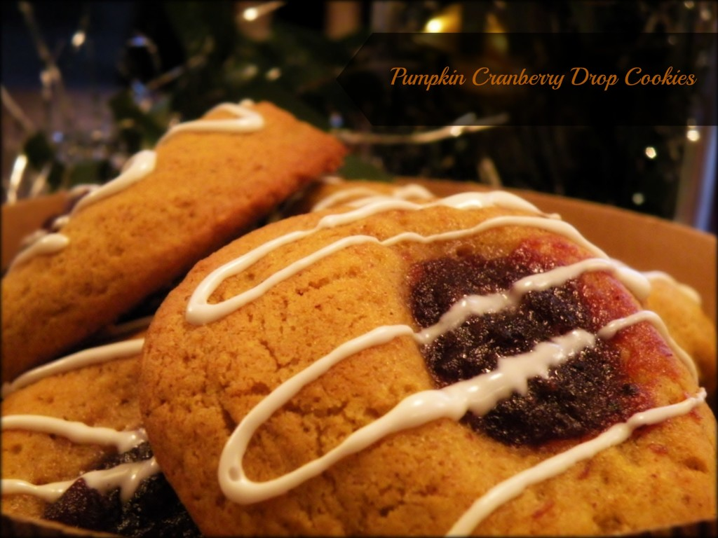 Pumpkin Cranberry Drop Cookies Recipe