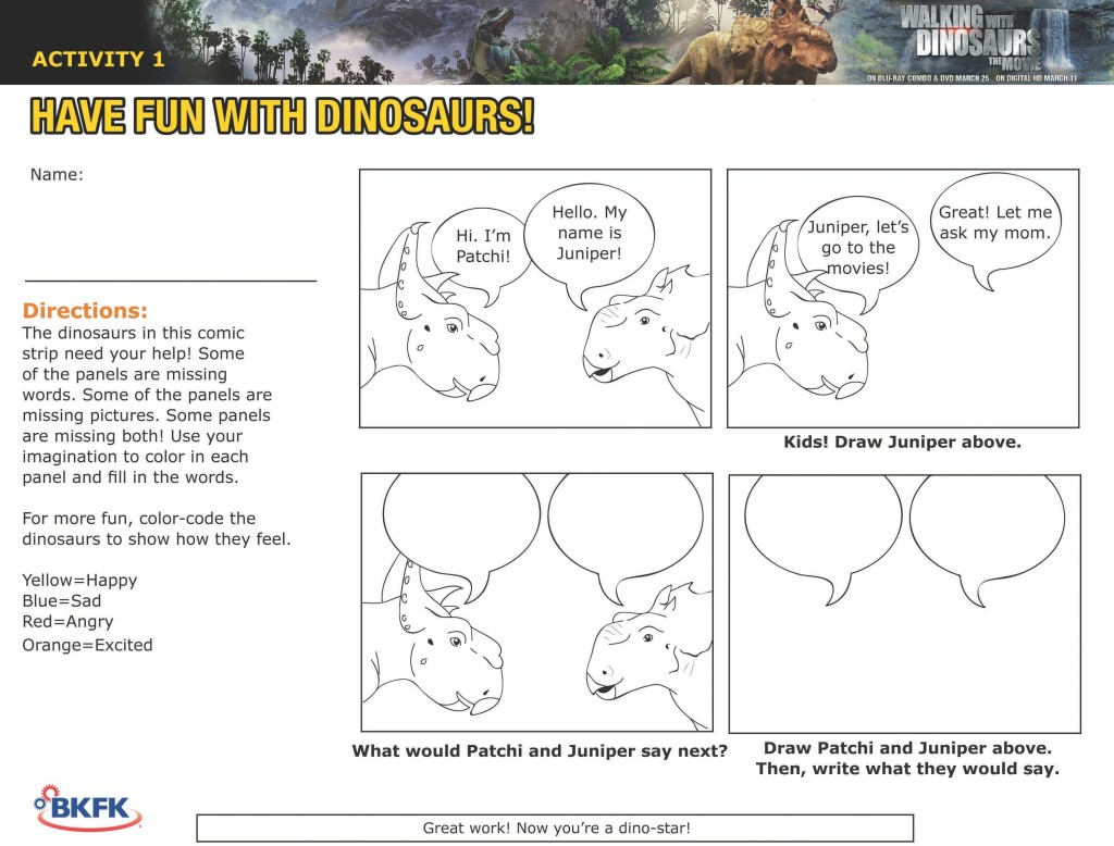 Walking With Dinosaurs Comic Strip