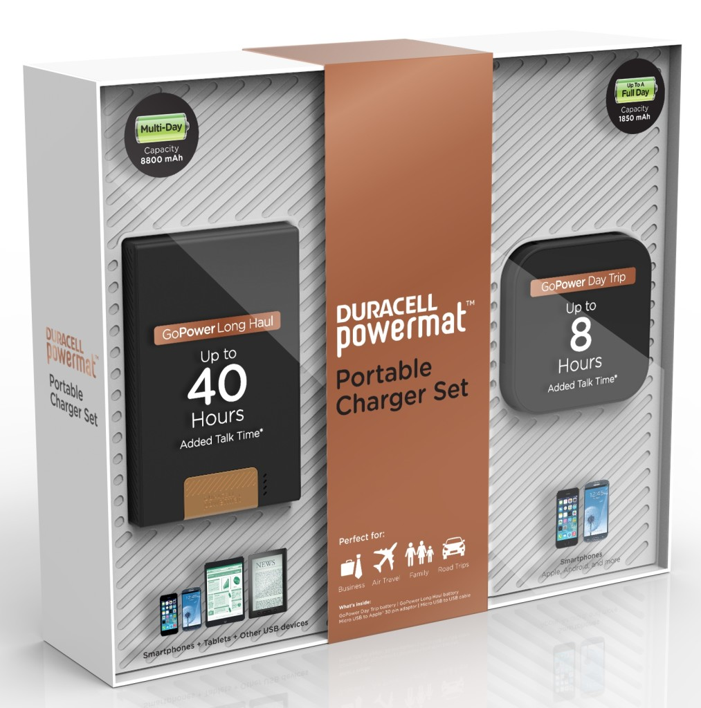 Duracell Portable Charger Set