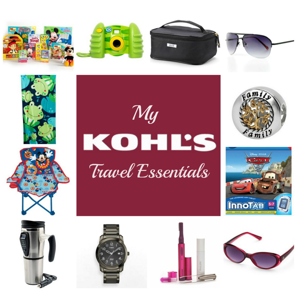 my kohl's travel essentials
