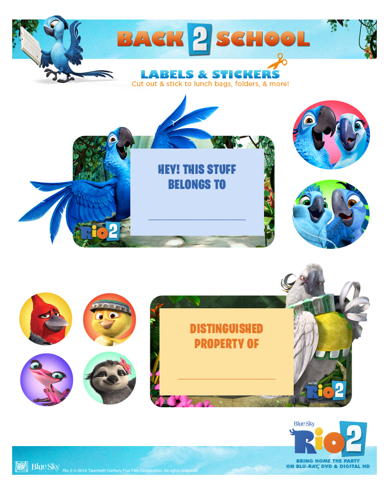 Rio 2 Stickers-Labels