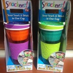 The Snackeez Drink & Snack Cup Combo Reduces Spills & Messes