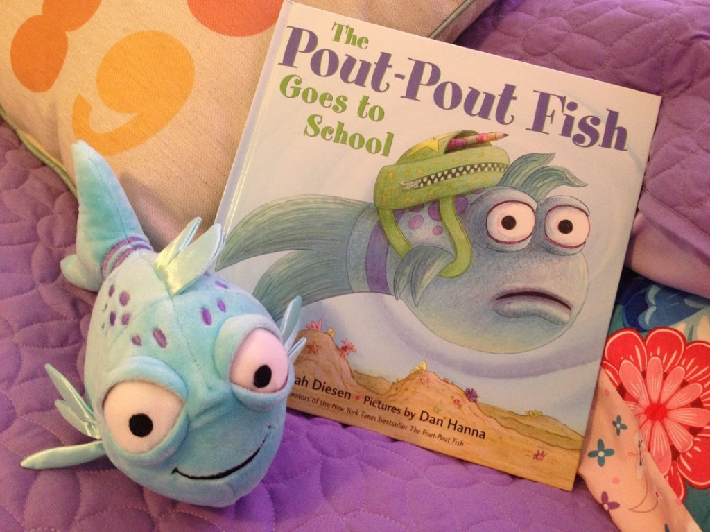 Adorable pout pout fish doll to accompany the book series for The pout pout fish book