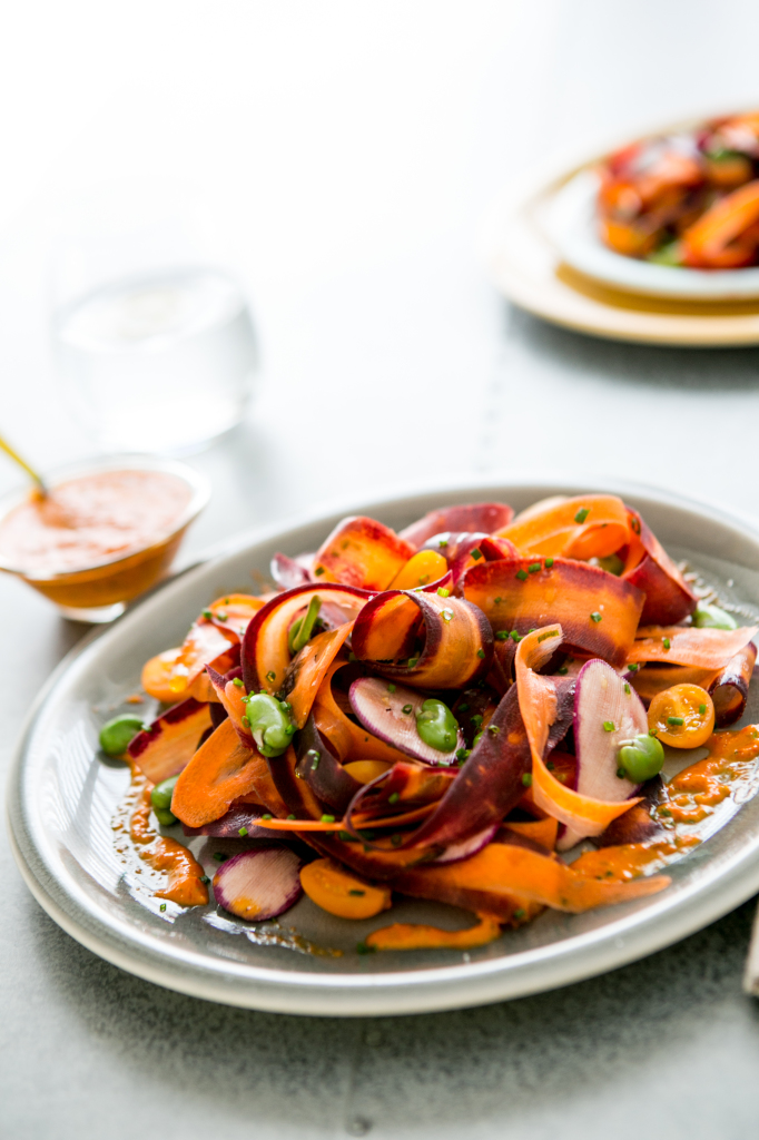 Rainbow Of Carrots Salad with Roasted Red Pepper Vinaigrette (1)