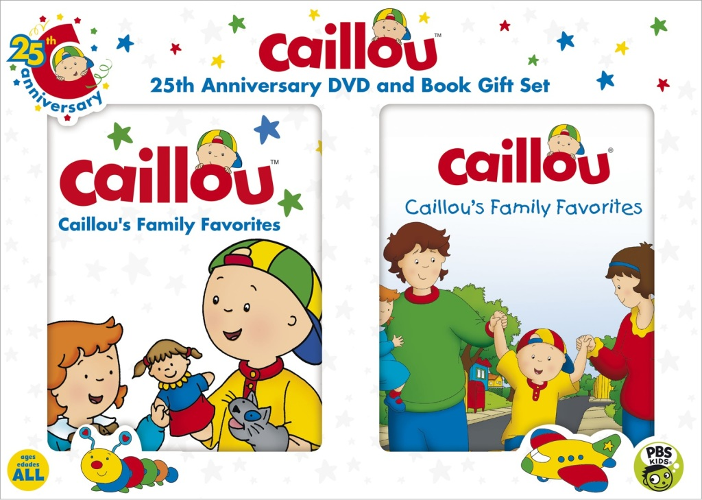 Caillou 25th anniversary dvd and book gift set