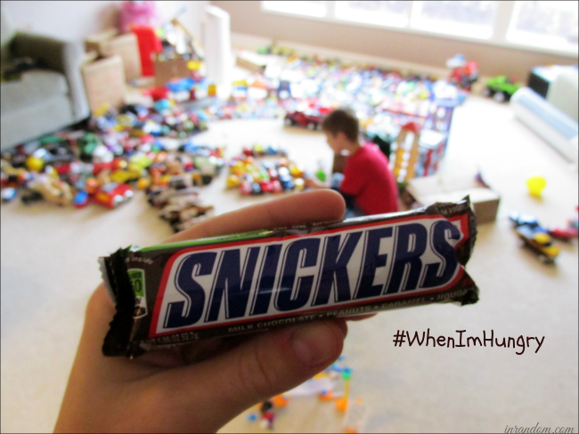 Snickers does the trick! #ad #WhenImHungry #shop