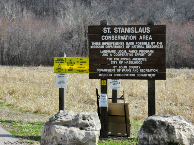 St. Stanislaus Conservation Area Sign