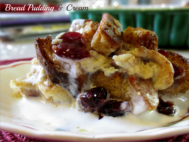 Bread Pudding & Cream Recipe