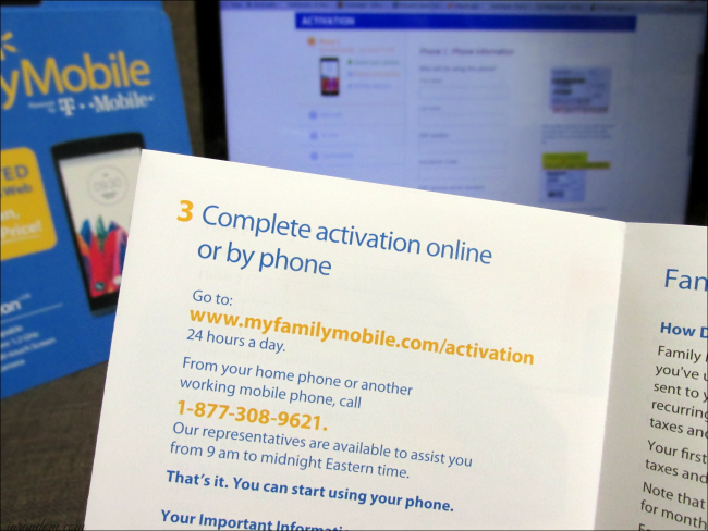 Walmart Family Mobile Activation