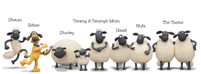 Shaun The Sheep Characters Names