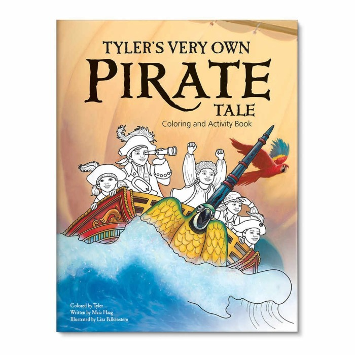 My Very Own Pirate Tale Personalized Coloring Book