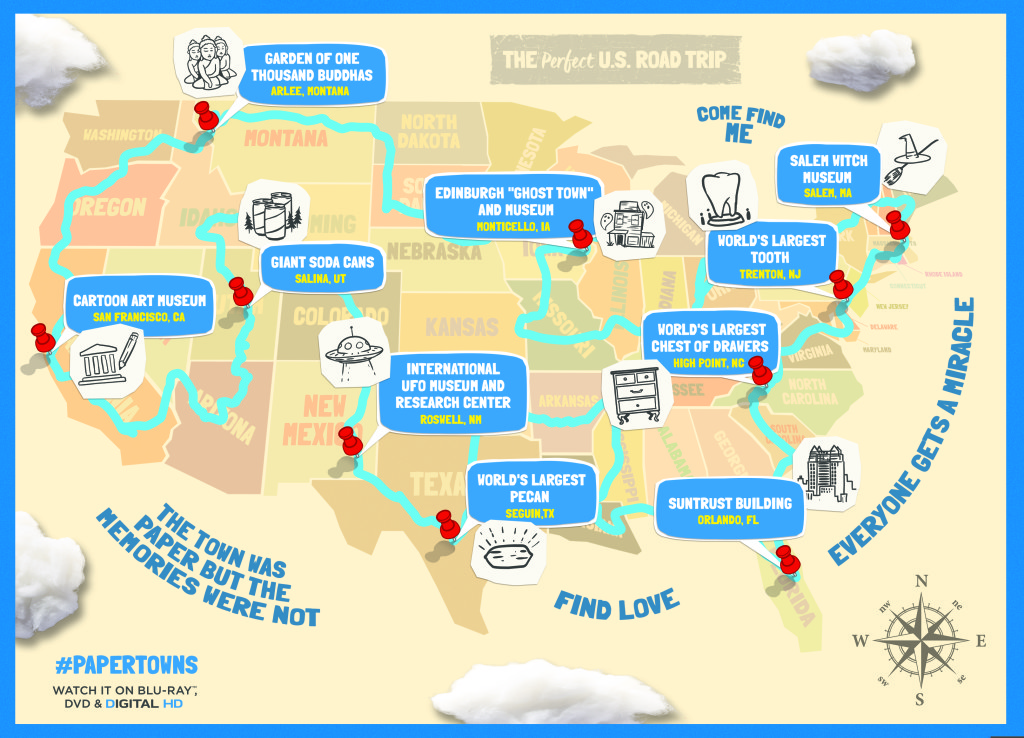 Paper Towns Printable Map