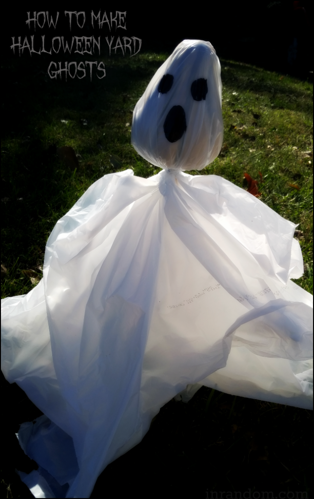 How to Make Halloween Yard Ghosts