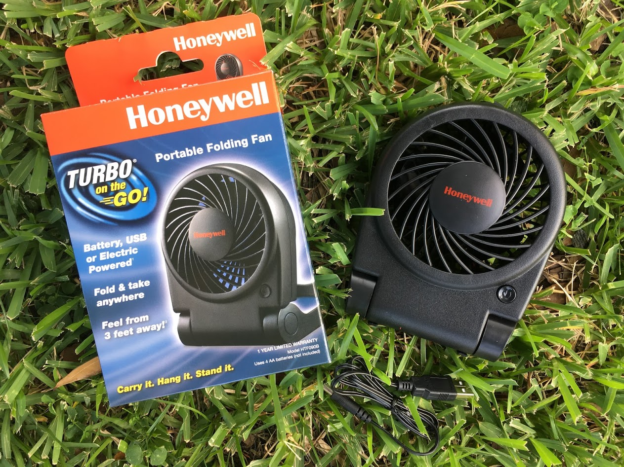 Turbo on the Go! Portable Fan Keeps You Cool Everywhere You Go