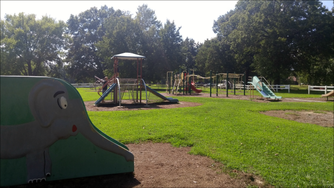 One of Horner Park's playgrounds