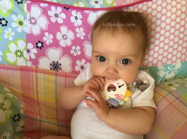 Pink Unicorn Donut Loulou Lollipop Teether